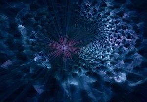 Abstract, Deep Space     Pink Gladiola III    -31-2013 005